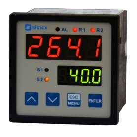 Simex SRT-77 | Digitale temperatuur controller | Pt100/500/1000 | SRT-77-1321-1-3-001
